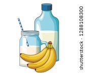 milk and banana | Shutterstock .eps vector #1288108300