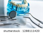 professional dentist tools in... | Shutterstock . vector #1288111420