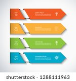 infographic template with 4... | Shutterstock .eps vector #1288111963