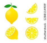 lemon. yellow lemon  stock... | Shutterstock . vector #1288114909
