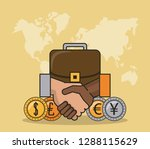 finance and trading cartoon | Shutterstock .eps vector #1288115629