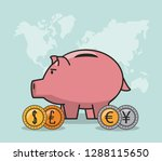 finance and trading cartoon | Shutterstock .eps vector #1288115650