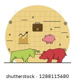 finance and trading cartoon | Shutterstock .eps vector #1288115680