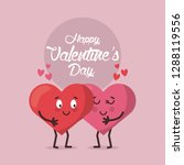 love valentines cartoon | Shutterstock .eps vector #1288119556