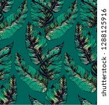 pattern with big  tropical... | Shutterstock .eps vector #1288125916