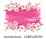 spring nature background with a ... | Shutterstock .eps vector #1288128250