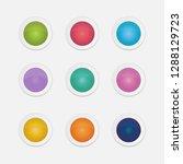 vector set of colorful gradient ...   Shutterstock .eps vector #1288129723