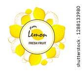 lemon vector frame  vector... | Shutterstock .eps vector #1288133980