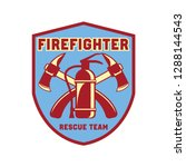 firefighter logo  emblems and... | Shutterstock .eps vector #1288144543