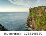 steep coast at ancient uluwatu...   Shutterstock . vector #1288145890