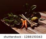 still life image of chilli... | Shutterstock . vector #1288150363