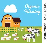 farm fresh organic foods.... | Shutterstock .eps vector #1288164136