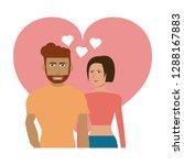 couple in love | Shutterstock .eps vector #1288167883