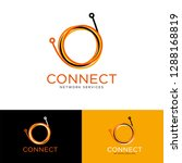 connect logo. optical fiber...