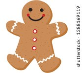 gingerbread person cookie | Shutterstock .eps vector #1288169119