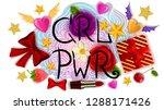 girl power phrase  grl pwr ... | Shutterstock .eps vector #1288171426