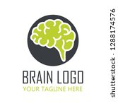 brain logo with text space for... | Shutterstock .eps vector #1288174576