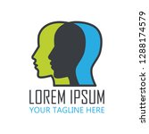 brain logo with text space for... | Shutterstock .eps vector #1288174579