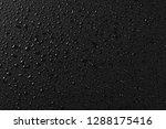 water droplets on black... | Shutterstock . vector #1288175416