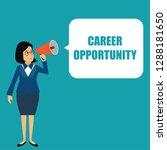 executive woman holding a... | Shutterstock .eps vector #1288181650