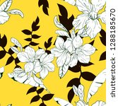 yellow black and white tropical ... | Shutterstock .eps vector #1288185670