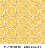 fresh yellow lemon slices... | Shutterstock . vector #1288186156