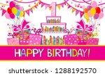 happy birthday card....   Shutterstock .eps vector #1288192570