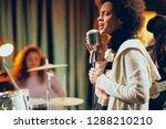 close up of mixed race woman...   Shutterstock . vector #1288210210