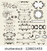vector set of calligraphic... | Shutterstock .eps vector #128821453