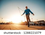 athletic senior man running in... | Shutterstock . vector #1288221079