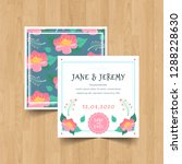 save the date wedding... | Shutterstock .eps vector #1288228630