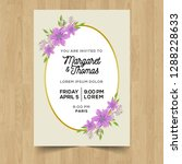 save the date wedding... | Shutterstock .eps vector #1288228633