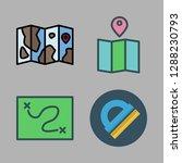 compass icon set. vector set...   Shutterstock .eps vector #1288230793