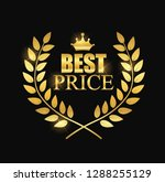 best price label illustration... | Shutterstock .eps vector #1288255129
