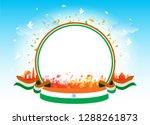 celebration of india republic... | Shutterstock .eps vector #1288261873