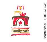 family cafe logo. template... | Shutterstock .eps vector #1288263760