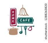 family home cafe logo. template ... | Shutterstock .eps vector #1288263820