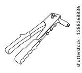 rivet gun contour vector...   Shutterstock .eps vector #1288268836