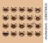 funny cat emoji vector set | Shutterstock .eps vector #1288276813