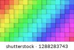 3d rendered texture of rainbow... | Shutterstock . vector #1288283743
