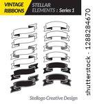 vintage ribbons set | Shutterstock .eps vector #1288284670