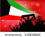 silhouette of a crowd with... | Shutterstock .eps vector #128828800