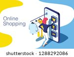 sale  consumerism and people... | Shutterstock . vector #1288292086