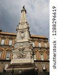 san domenico obelisk in naples... | Shutterstock . vector #1288296619
