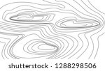 contour map or topographic map... | Shutterstock .eps vector #1288298506