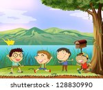 illustration of a group of... | Shutterstock .eps vector #128830990