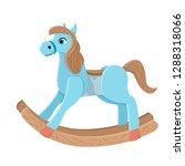 Wooden Horse. Children\'s Toy...