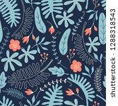 hand drawn seamless pattern... | Shutterstock .eps vector #1288318543
