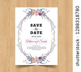 save the date wedding... | Shutterstock .eps vector #1288318780