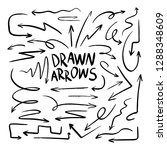 drawn arrow set illustration... | Shutterstock .eps vector #1288348609